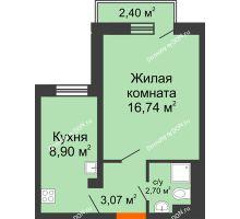 1 комнатная квартира 31,69 м² в ЖК Мечников, дом ул. Таврическая, 4 - планировка