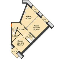 2 комнатная квартира 78,8 м², Жилой дом: г. Дзержинск, ул. Кирова, д.12 - планировка