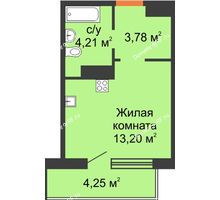 Студия 23,32 м² в ЖК Светлоград, дом Литер 22 - планировка