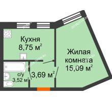 1 комнатная квартира 31,05 м², ЖК Советский - планировка