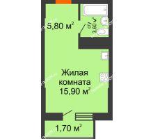 Студия 27 м², ЖК Клубный дом на Мечникова - планировка