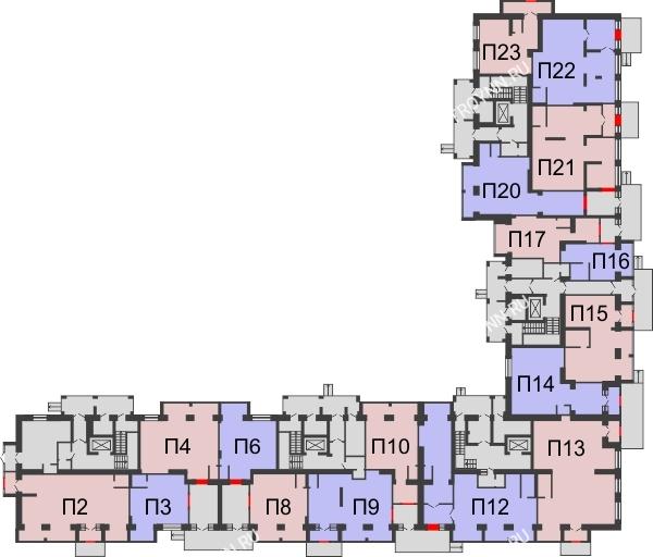 Планировка 1 этажа в доме № 1 в ЖК Удачный 2