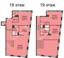 4 комнатная квартира 311,29 м², ЖК Гранд Панорама - планировка
