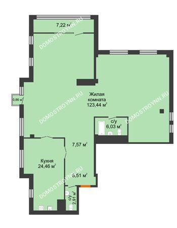 1 комнатная квартира 174,79 м² в ЖК Renaissance (Ренессанс), дом № 1