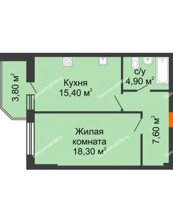 1 комнатная квартира 50 м² - Жилой Дом пр. Чехова