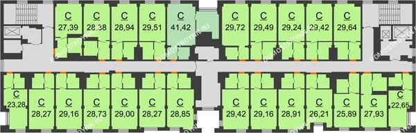 Апарт-Отель Гордеевка - планировка 6 этажа