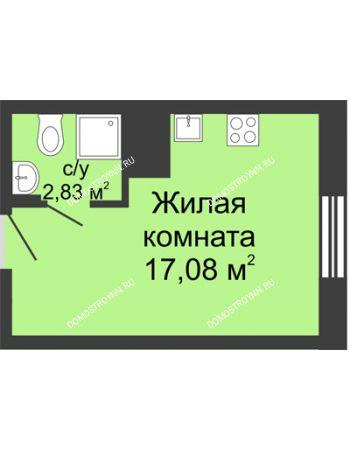 Студия 19,91 м² в ЖК Красная поляна, дом № 6
