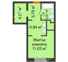 Студия 27,64 м² в ЖК Первая Линия. Гавань, дом № 2.3 - планировка
