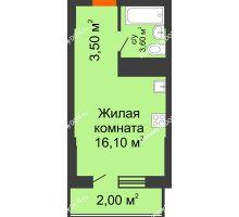 Студия 25,3 м², ЖК Клубный дом на Мечникова - планировка