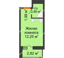 Студия 19,94 м² в ЖК Москва Град, дом 60/3 - планировка