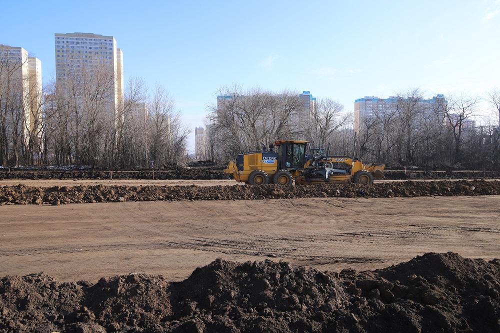 В ростовском микрорайоне Левенцовка строят новую дорогу