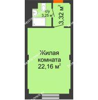 Апартаменты-студия 28,73 м², Апарт-Отель Гордеевка - планировка