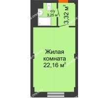 Студия 28,73 м², Апарт-Отель Гордеевка - планировка