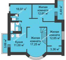 3 комнатная квартира 102,76 м², ЖК Петровская Крепость - планировка
